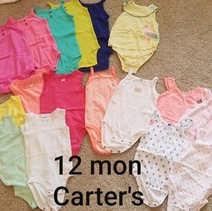 12 mon carter onesie bundle